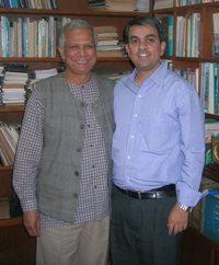 Muhammad Yunus and Royston Braganza
