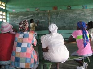 Haitian women in a classroom
