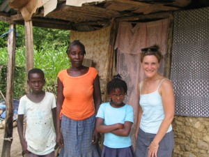 haitian family with gf staff