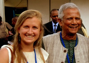 Maddie with Muhammad Yunus