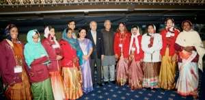 The women on Grameen Bank's Board of Directors, who represent the Bank's 8.3 million borrower-owners and are shown here with Prof. Yunus at the Nobel Peace Prize ceremony, are in danger of losing their ability to choose the Bank's Managing Director.