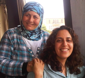 In Sidon, Lebanon, Sally (right) met Osama – a photographer and Al Majmoua client – who is carving out a niche in her city's male-dominated photography industry.